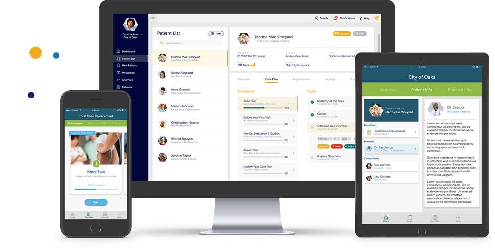 patient engagement solution, the beewell platform, patient app, practice dashboard, companion app